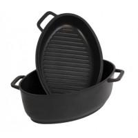 Гусятница с крышкой-сковородой
