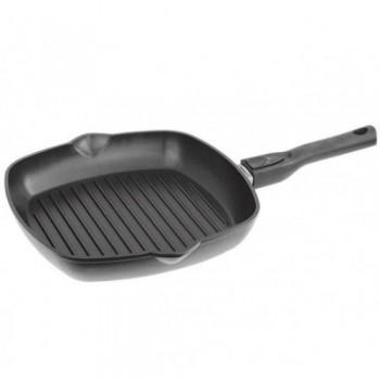 Сковорода-гриль со съемной ручкой с антипригарным покрытием