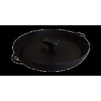 Сковорода-гриль круглая с крышкой-прессом